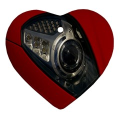 Auto Red Fast Sport Heart Ornament (two Sides)