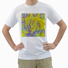 Backdrop Background Abstract Men s T Shirt (white) (two Sided)