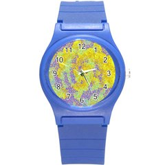 Backdrop Background Abstract Round Plastic Sport Watch (s)