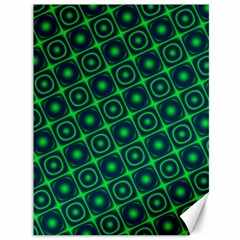 Plaid Green Light Canvas 36  X 48   by Alisyart
