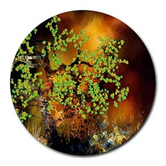 Backdrop Background Tree Abstract Round Mousepads