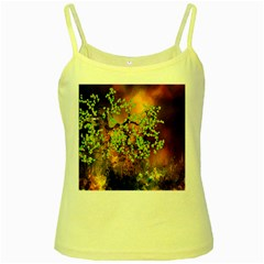 Backdrop Background Tree Abstract Yellow Spaghetti Tank
