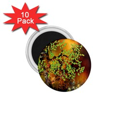 Backdrop Background Tree Abstract 1.75  Magnets (10 pack)