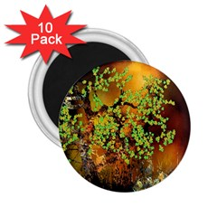 Backdrop Background Tree Abstract 2.25  Magnets (10 pack)