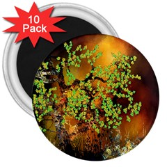 Backdrop Background Tree Abstract 3  Magnets (10 pack)