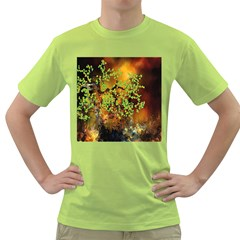 Backdrop Background Tree Abstract Green T-Shirt