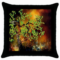 Backdrop Background Tree Abstract Throw Pillow Case (Black)