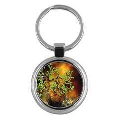 Backdrop Background Tree Abstract Key Chains (Round)