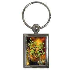 Backdrop Background Tree Abstract Key Chains (Rectangle)