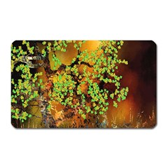 Backdrop Background Tree Abstract Magnet (Rectangular)