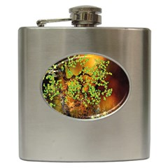 Backdrop Background Tree Abstract Hip Flask (6 oz)