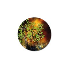 Backdrop Background Tree Abstract Golf Ball Marker (4 pack)