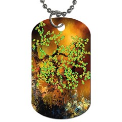 Backdrop Background Tree Abstract Dog Tag (Two Sides)