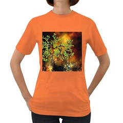 Backdrop Background Tree Abstract Women s Dark T-Shirt