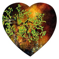 Backdrop Background Tree Abstract Jigsaw Puzzle (Heart)