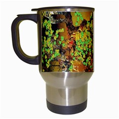 Backdrop Background Tree Abstract Travel Mugs (White)