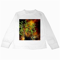 Backdrop Background Tree Abstract Kids Long Sleeve T-Shirts