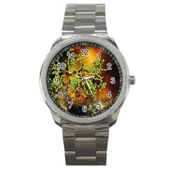 Backdrop Background Tree Abstract Sport Metal Watch