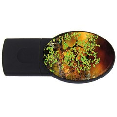 Backdrop Background Tree Abstract USB Flash Drive Oval (4 GB)