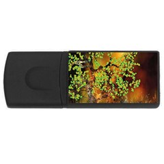 Backdrop Background Tree Abstract USB Flash Drive Rectangular (4 GB)