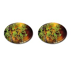 Backdrop Background Tree Abstract Cufflinks (Oval)