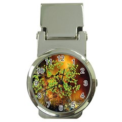 Backdrop Background Tree Abstract Money Clip Watches