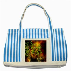 Backdrop Background Tree Abstract Striped Blue Tote Bag