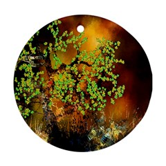 Backdrop Background Tree Abstract Round Ornament (Two Sides)
