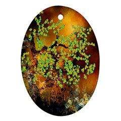Backdrop Background Tree Abstract Oval Ornament (Two Sides)