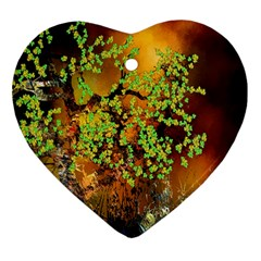 Backdrop Background Tree Abstract Heart Ornament (Two Sides)