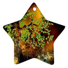 Backdrop Background Tree Abstract Star Ornament (Two Sides)