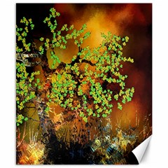 Backdrop Background Tree Abstract Canvas 8  x 10