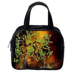 Backdrop Background Tree Abstract Classic Handbags (One Side)