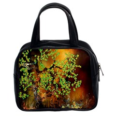 Backdrop Background Tree Abstract Classic Handbags (2 Sides)