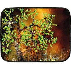 Backdrop Background Tree Abstract Double Sided Fleece Blanket (Mini)