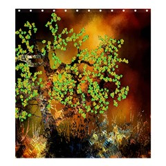 Backdrop Background Tree Abstract Shower Curtain 66  x 72  (Large)