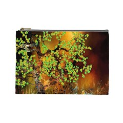 Backdrop Background Tree Abstract Cosmetic Bag (Large)
