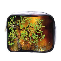 Backdrop Background Tree Abstract Mini Toiletries Bags