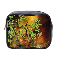 Backdrop Background Tree Abstract Mini Toiletries Bag 2-Side