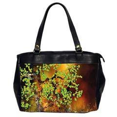 Backdrop Background Tree Abstract Office Handbags (2 Sides)