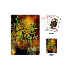 Backdrop Background Tree Abstract Playing Cards (Mini)