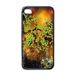 Backdrop Background Tree Abstract Apple iPhone 4 Case (Black)