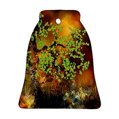 Backdrop Background Tree Abstract Bell Ornament (Two Sides)
