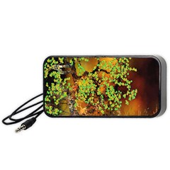 Backdrop Background Tree Abstract Portable Speaker (Black)