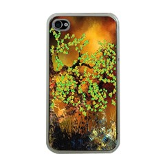 Backdrop Background Tree Abstract Apple iPhone 4 Case (Clear)