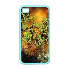 Backdrop Background Tree Abstract Apple iPhone 4 Case (Color)