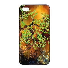 Backdrop Background Tree Abstract Apple iPhone 4/4s Seamless Case (Black)