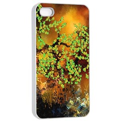 Backdrop Background Tree Abstract Apple iPhone 4/4s Seamless Case (White)