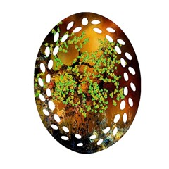 Backdrop Background Tree Abstract Oval Filigree Ornament (Two Sides)