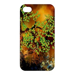 Backdrop Background Tree Abstract Apple iPhone 4/4S Premium Hardshell Case